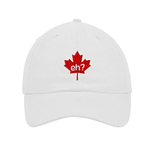 Speedy Pros Cotton Low Profile Hat Canada Eh Maple Leaf Embroidery Design - Leaf Maple Eyelet