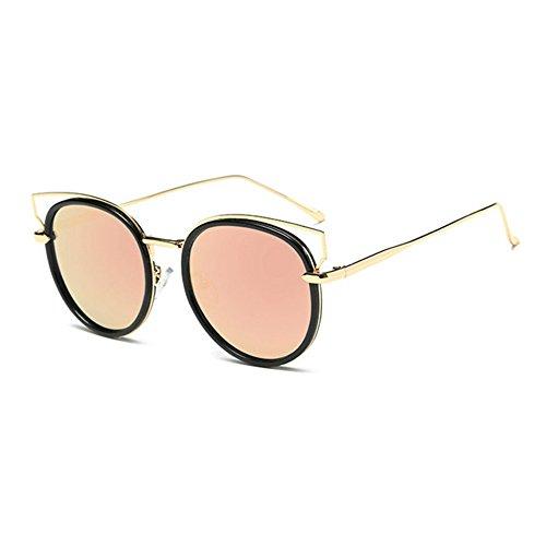 Cheapass Lunettes de Soleil Rondes marron aspect-bois UV-400 Lunettes de soleil designer Accessoire de festival faites de plastique Hommes Femmes dau4O