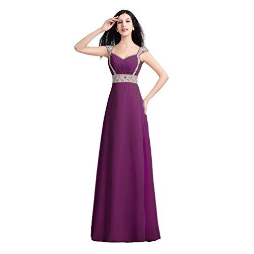 Vimans Damen A-Linie Kleid Violett - Grape ys6TVsZ