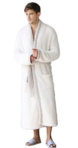 Spugna Morbido Caldo Abbigliamento Notte Riccioli Accappatoio Uomo Lunghi Da Bene Vestaglia Puro Con Liveinu Bianco E Donna Felpa Assorbenza Avvolgente Cotone Di 4qIx7UZ