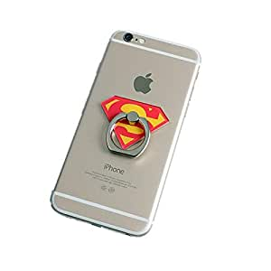 Superman Aluminum Metal Universal Finger Ring Smartphone Mobile Cell Phone holder Stand rings