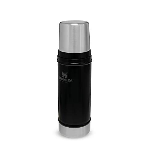 Stanley The Legendary Classic Vacuum Bottle 47L Matte Black 18/8 Stainless Steel Double-Wall Vacuum Insulation Water Bottle Leakproof + Packable Doubles As Cup Dishwasher Safe Naturally Bpa-Free