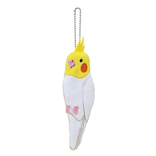Soft and Downy Bird Stuffed Chain Type Smartphone Pouch (Cockatiel)