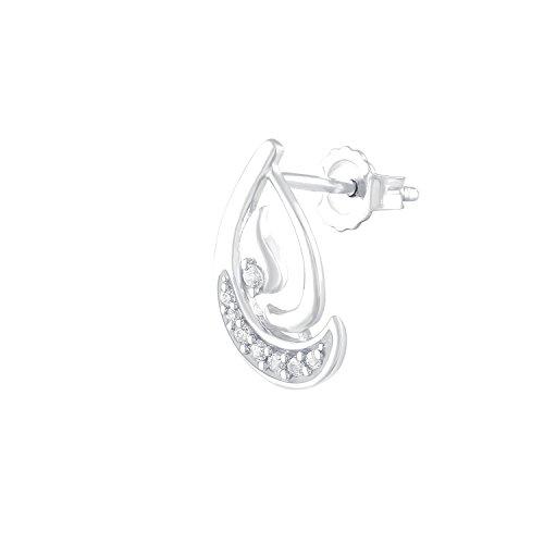 Giantti 14carats Diamant pour femme Dangler Boucles d'oreilles (0,08ct, VS/Si-clarity, Gh-colour)