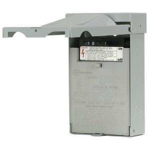 Eaton DPF222R 1-Phase Fusible Pull-Out AC Disconnect Switch 120/240 Volt AC 60 Amp NEMA 3R