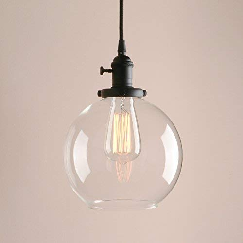 Glass Round Pendant Light in US - 1