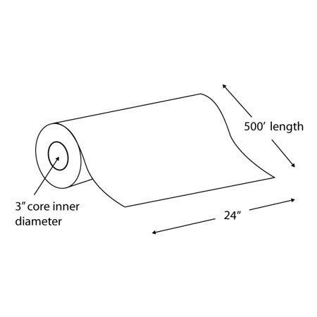 """Alliance Paper Rolls, Bond Engineering, 24"""" x 500', 92 Bright, 20lb - 45 Rolls per Pallet with 3"""" Core by Alliance (Image #2)"""