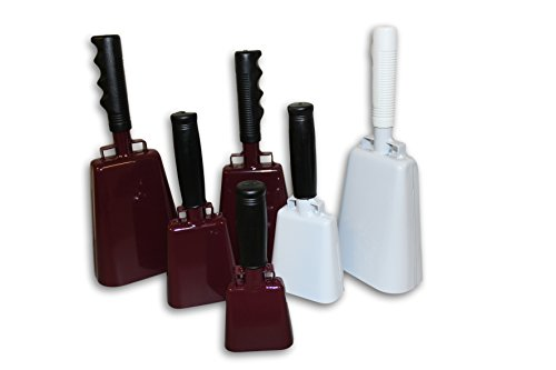 Bells Maroon (Cowbell With Handle Various Sizes and Colors (Maroon, 10