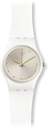 Sun Silver Dial (Swatch White Mouse Sun- Brushed Silver Dial Ladies Watch LW148)