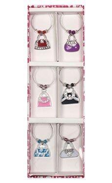Beaded Handbags Wine Charms includes 6 (Beaded Design Handbag)