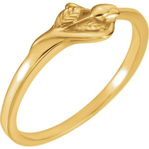 'Unblossomed Rose' 10k Yellow Gold Chastity Ring, Size 5 by The Men's Jewelry Store (for HER) (Image #2)