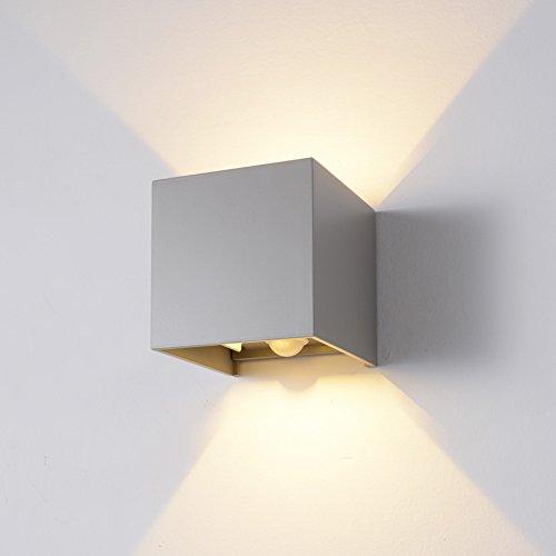INHDBOX Motion Sensor LED Wall Lighting Sconce, 7W Warm Light Outdoor Waterproof Adjustable Wall Lamp, Motion Detector Garden/Hallway/Pathway Porch Light