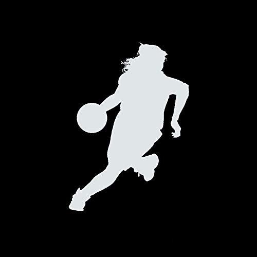SHMAZ 10 * 14 Cm Gepersonaliseerde Auto Stickers Vrouwelijke Basketbalspelers Interessante Auto Styling Decals Zwart…