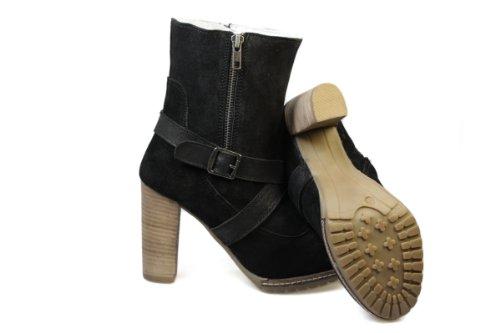 RavelHarkFrauenSchwarz WildlederHigh-HeelAnkle Boots, 36 EU