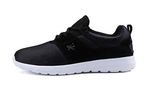 Corre Il Re Leggero Andare Facile Casual Da Passeggio Uomo Sneaker R1908 Nero