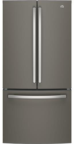 GE GWE19JMLES 33 Inch Counter Depth French Door Refrigerator With 18.6 Cu.  Ft. Total