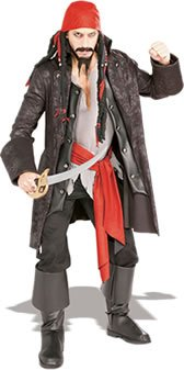 Jack Sparrow Beard Costume (Captain Cutthroat Adult Costume - Standard)