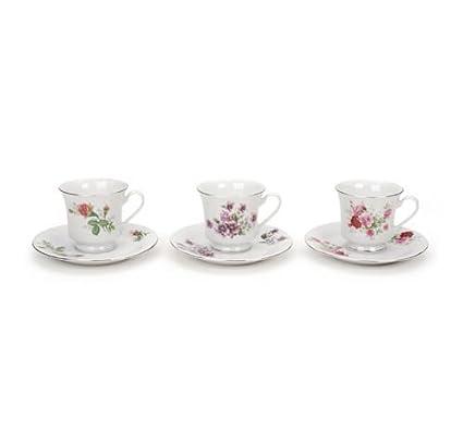 Amazoncom 48 Assorted Floral Bulk Porcelain Tea Cups And Saucers