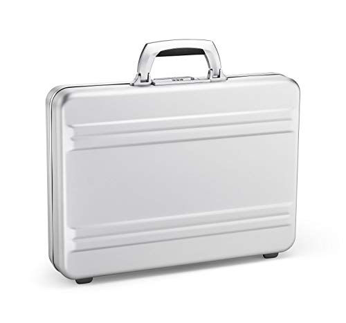 Zero Halliburton Slimline Aluminum Attache Case in Silver