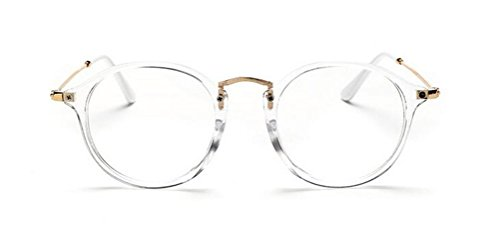 GAMT Round Hipster Glasses Clear Full Frame Eyeglasses for Men and - Female Face Suit Glasses Round To Shape