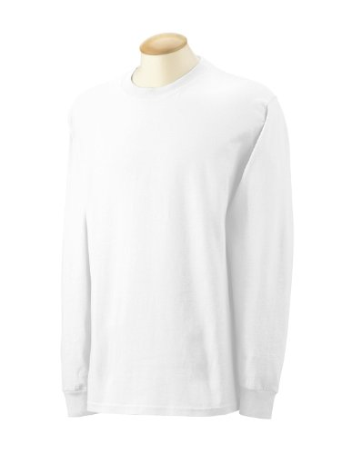 Cottontm Ultra Adulte Gildan shirt Blanc À Longues Manches T q15wHP