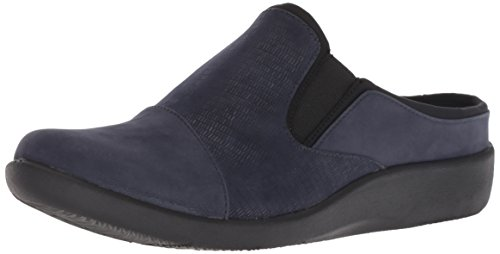 CLARKS Women's Sillian Free Clog, Navy Synthetic Combi, 090 M US