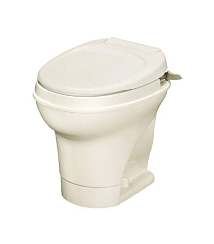 Thetford Parchment Aqua Magic V RV Toilet Hand Flush-High Profile Color 31668