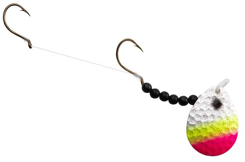 (Hilderbrandt Hammer Time Walleye Spinner, Tropical Sunrise, Blade Size #4)