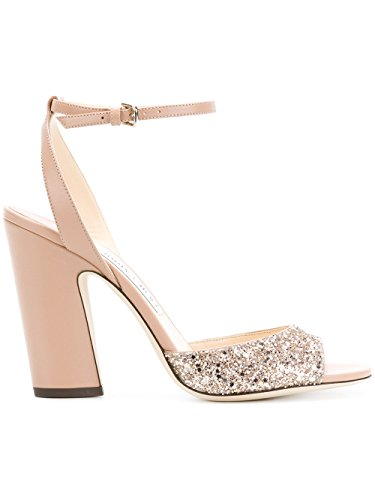 JIMMY CHOO Women's Miranda100fan Pink Leather - Choo Shoes For Women Jimmy
