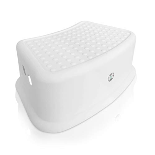 Step Stool for Kids - Toddlers Potty and Toilet Training Stepping Stool - Use in Bathroom, Sink, Bedroom, Toy Room, Kitchen, and Living Room - White