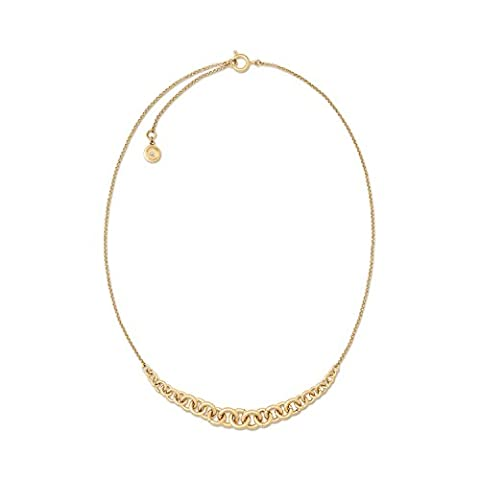 Michael Kors Gold Tone Holiday Luxe Circle Clasp Necklace, 18