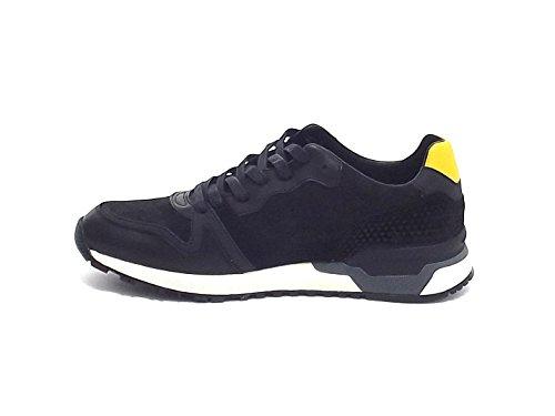 pelle nero uomo camoscio sneakers A7102 11702 e Crime fnqwBTtT
