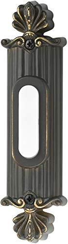 Craftmade BSSO-AZ Designer Surface Mount Straight Ornate Lighted Doorbell LED Push Button, Antique Bronze (5