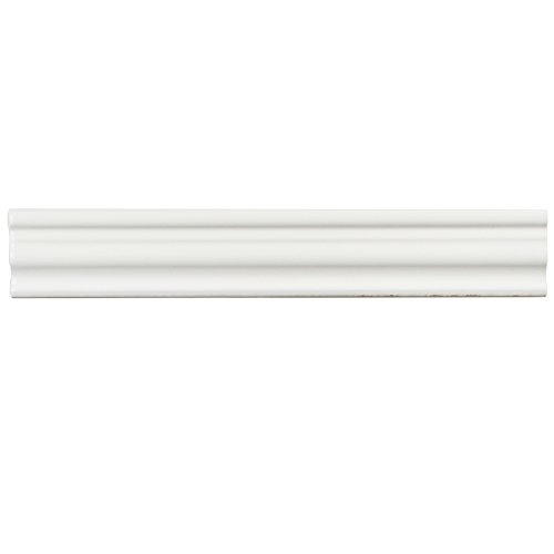 Chair Tile Ceramic Rail (SomerTile WNU36CBM Penn Bianco Chair Rail Ceramic Wall Trim Tile, 2