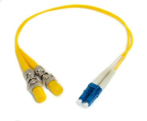 1ft Fiber Optic Adapter Cable LC (Male) to ST (Female) Singlemode 9/125 Duplex Female Duplex Fiber Adapter