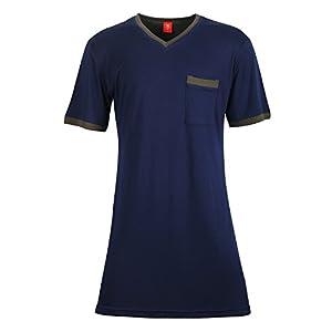Godsen Men's Cotton Nightgown Sleepwear Top Nightshirt Sleep Shirt Robes