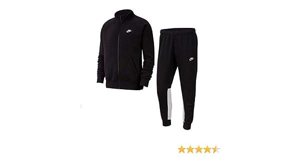 Nike CE Fleece Tracksuit - Chándal Blanco/Negro XXL: Amazon.es ...