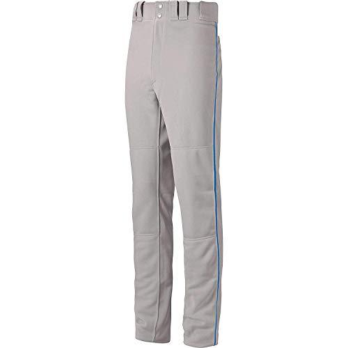 Mizuno Premier Pro Piped Pant (Grey/Royal, Medium)