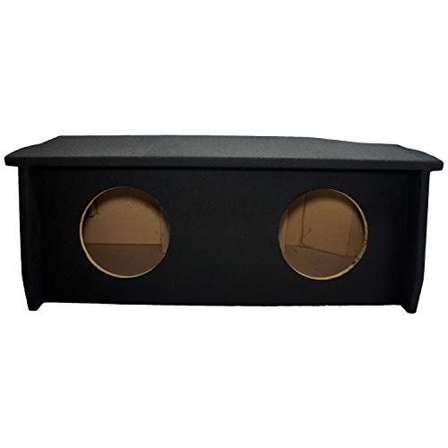 Compatible with 2007-UP Jeep Wrangler 2 Door Dual 10″ Sub Box Subwoofer Enclosure with Amp Rack