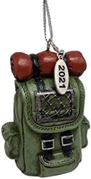 Outdoors Hiking Backpack Ornament 2021 | Trail Back Pack Keepsake Camping Gift in Box Ready for Giving