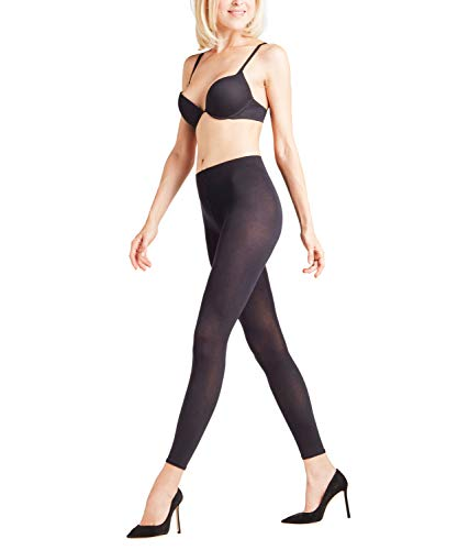 Falke Women's Cotton Touch Footless Tights, Black, Small/Medium