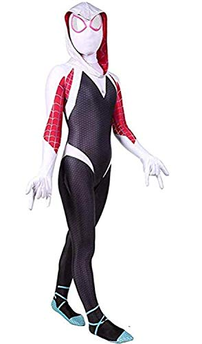 Spurcos Toddler Kids Spider Verse Miles Morales Gwen Jumpsuit Bodysuit Halloween Cosplay ()