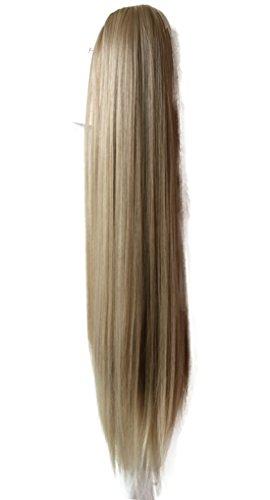 PRETTYSHOP Haarteil Hair Piece Zopf Pferdeschwanz glatt Haarverlängerung 50cm oder 70cm hitzebeständig wie Echthaar div. Farben (50cm hell blond mix (#25T613 H55))