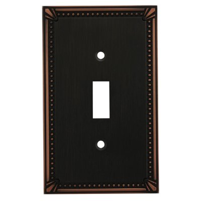Cosmas 44055-ORB Oil Rubbed Bronze Single Toggle Switch Plate Switchplate Cover ()