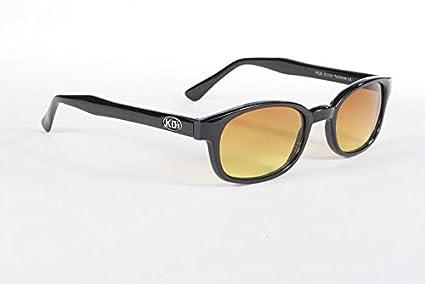 Amazon.com: KD Black Frame Blue Buster Amber Lens Sunglasses OCC ASO ...
