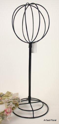 Metal Ball Standing Hat Rack Stand Satin Black