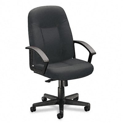 Basyx BSXVL601VA19 VL601 Series Managerial Mid-Back Swivel/Tilt Chair Charcoal Fabric/Black Frame, Charcoal