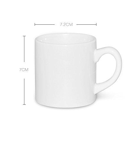 12 BLANK SUBLIMATION CERAMIC WHITE 6 oz mini mug HEAT TRANSFER REF. 10600