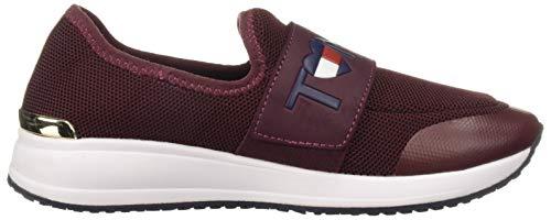 Tommy Dark Women's Hilfiger Red Rosin Sneaker qFp64rFw