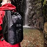 Aquapac 25 Liter Wet and Dry Backpack, Black with Hot Orange Lashtab Surround, Outdoor Stuffs